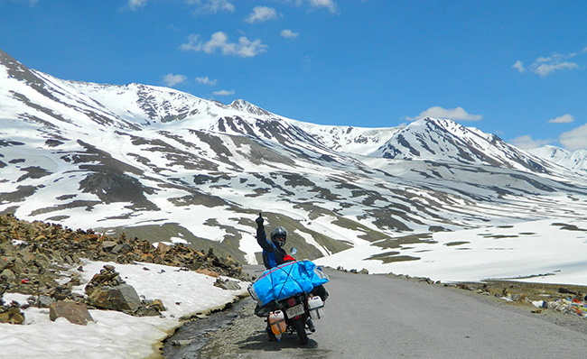 Ladakh Motorcycle Trip - Suraj Tal Lake