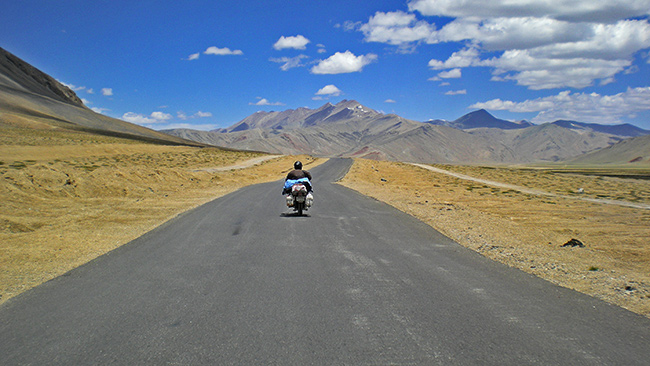 Ladakh Motorcycle Trip - More plains