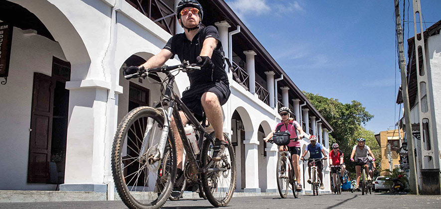 Biking in Galle