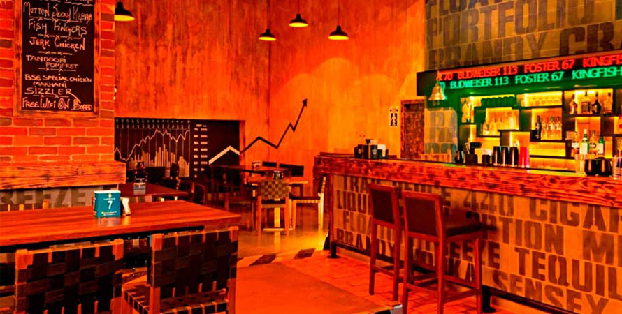Unique Places to Eat in Mumbai - The bar stock exchange