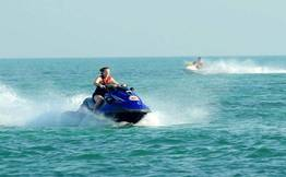 Jet Skiing with photography at Carbyn's Cove, Port Blair