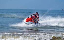 Jet Ski Ride at Calangute - Anjuna Beach
