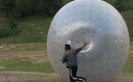 Zorbing in Solang Valley