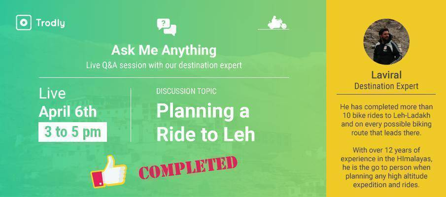 Live Q&A session with our Leh-Ladakh expert