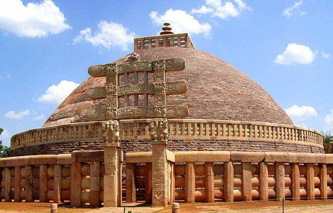 Buddhists Holy Places in India: Sanchi