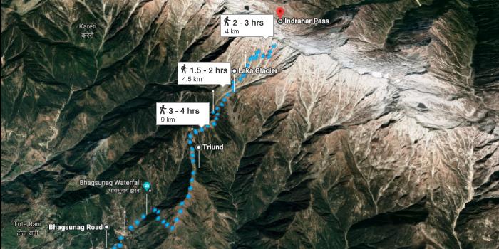 Indrahar pass trek from Mcleodganj