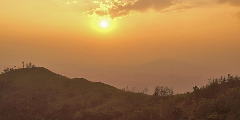 Kumara Parvatha Trek - Sunset