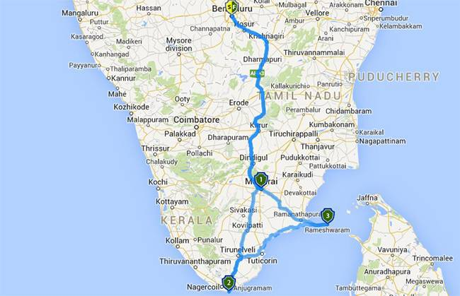 Best Road Trips from Bangalore: Madurai Kanyakumari Rameshwaram