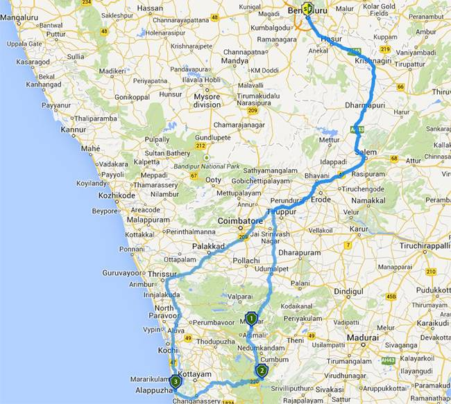 Best Road Trips from Bangalore: Munnar Thekkady Alleppey