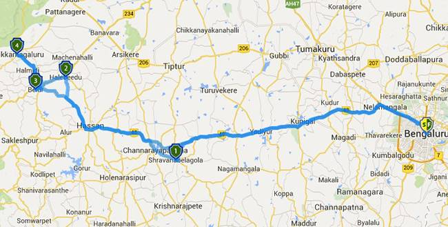 Best Road Trips from Bangalore: Belur halebidu chikmagalur