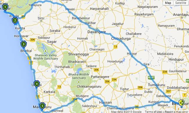 Best Road Trips from Bangalore: Karwar GoKarna Murudeshwar Udupi Mangalore