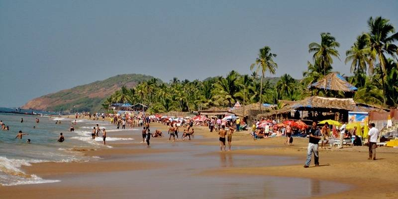 Anjuna Beach - best beaches of Goa