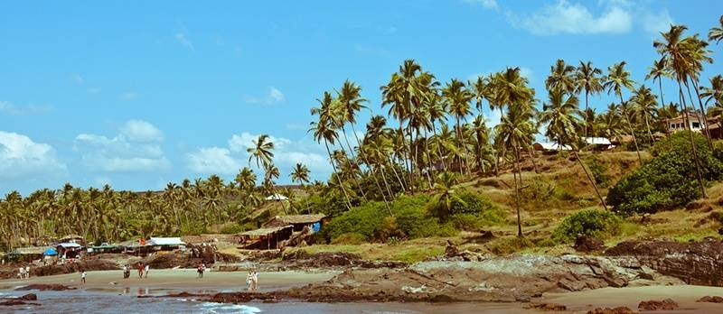 Small Vagator Beach - best beaches of Goa