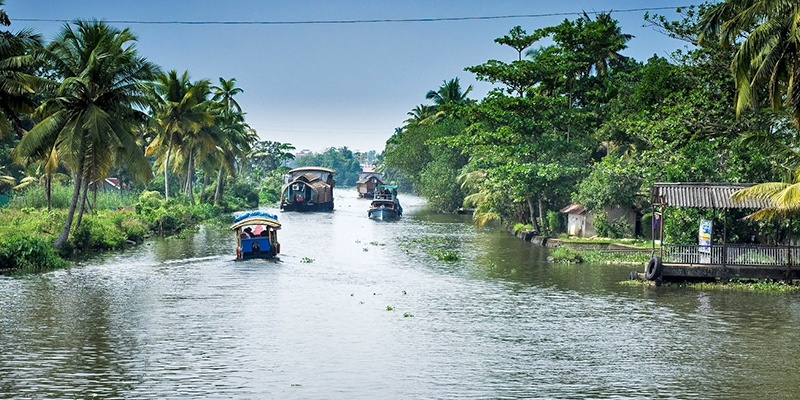 Places to Visit in India in December: Alleppey, Kerala
