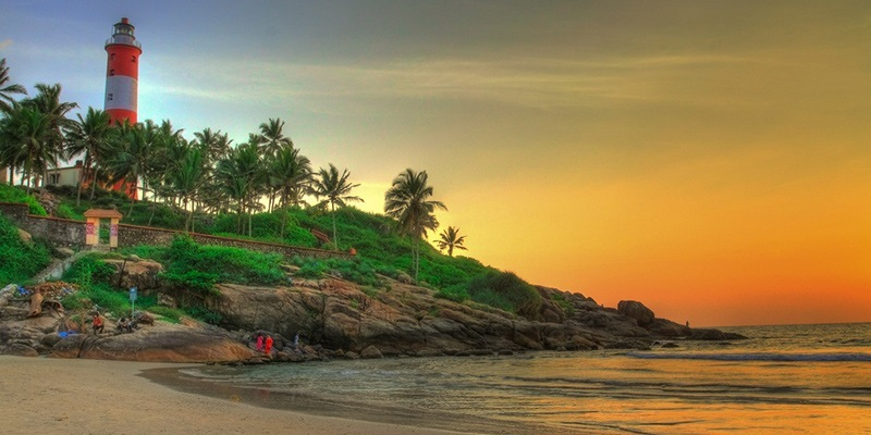 Places for Beach Vacation in India - Kovalam, Kerala