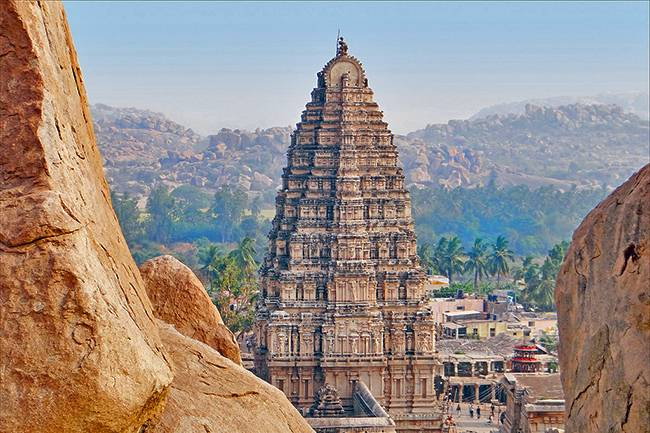 Virupaksha Temple is located in Hampi
